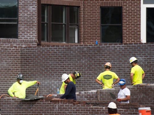 Work continues at 303 Flats off of W. Blount Avenue in Knoxville on Friday, August 17, 2018.