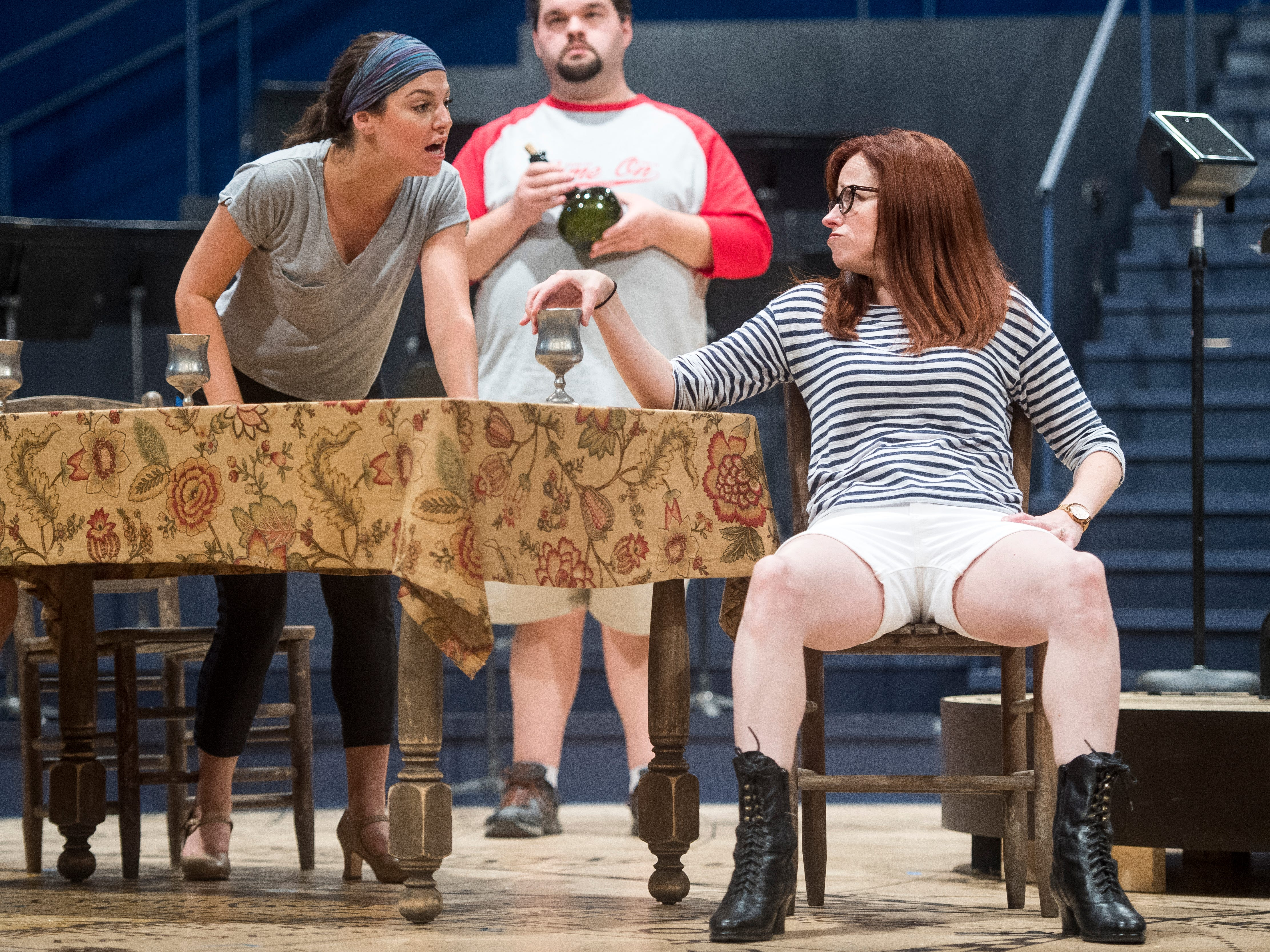 "Actors rehearse scenes in Leonard Bernstein's ""Candide"" at the Clarence Brown Theater on the University of Tennessee's campus on Thursday, August 16, 2018. The play will run August 29 to September 16."