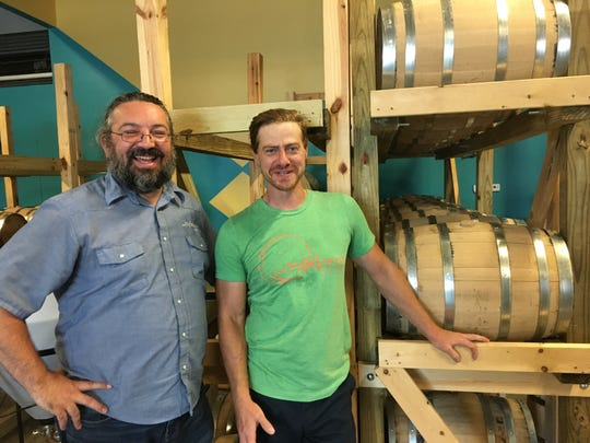 Stanton Webster, left, and Ron Grazioso are business partners in PostModern Spirits.