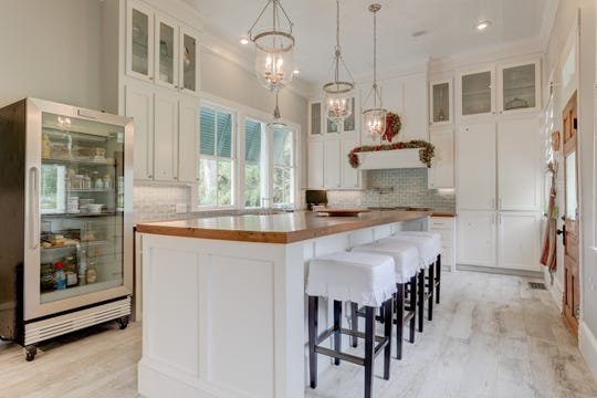 The kitchen is bright and inviting.