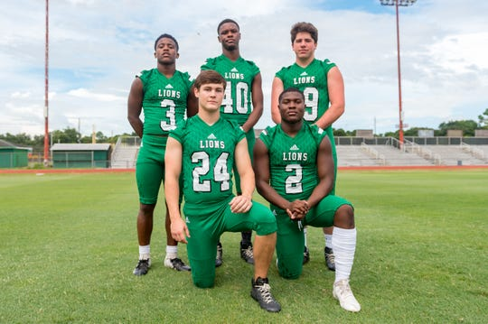 Lafayette High defensive standouts include- Jalon Senegal (3), Will Delahoussaye (24), Micah Williams (40), Jaedyn Singleton (2) and Oliver Craddock (19).