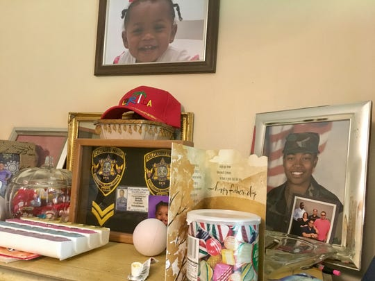 George Jackson, 76, served 30 years in the U.S. Navy and then more than 10 years with the Calcasieu Parish Sheriff's Office before his degenerative and narrowing vertebrae broke and damaged his spine, paralyzing him. His daughter Jocelyn Jackson went into the military.