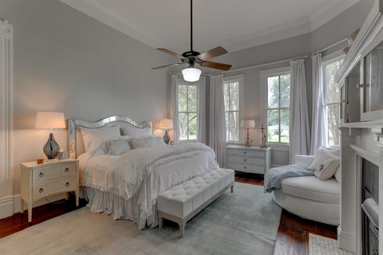 The master suite is a soothing retreat in the home.