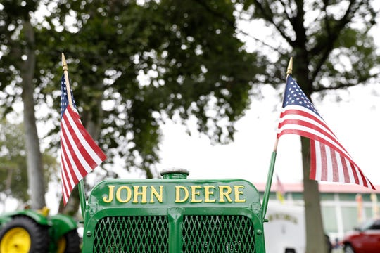 John Deere equipment was featured make of tractors at the Fairfield County Antique Tractor Club's annual show at the Fairfield County Fairgrounds.