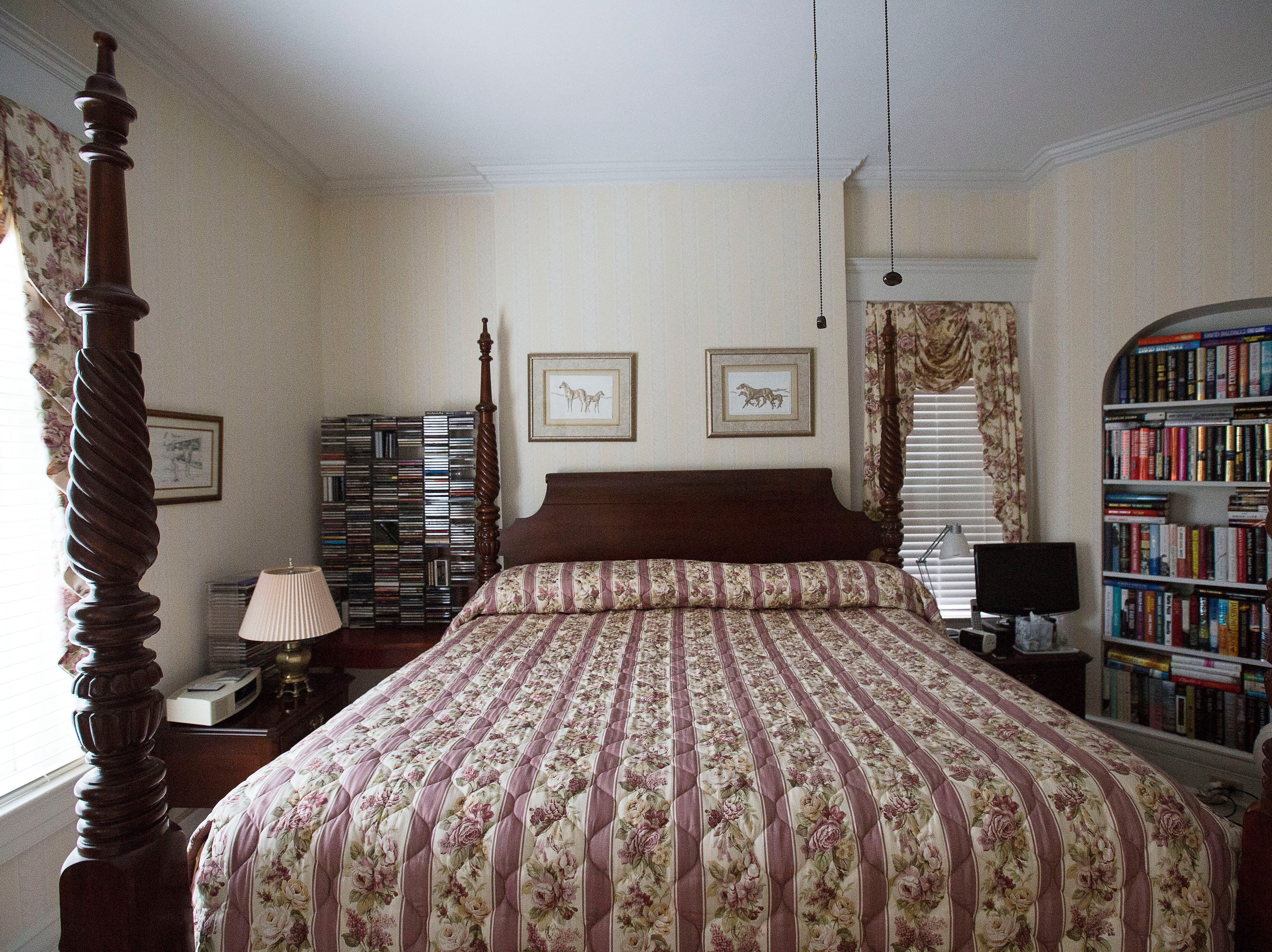 Second floor bedroom at historic Cherokee Triangle home in Louisville, KY.