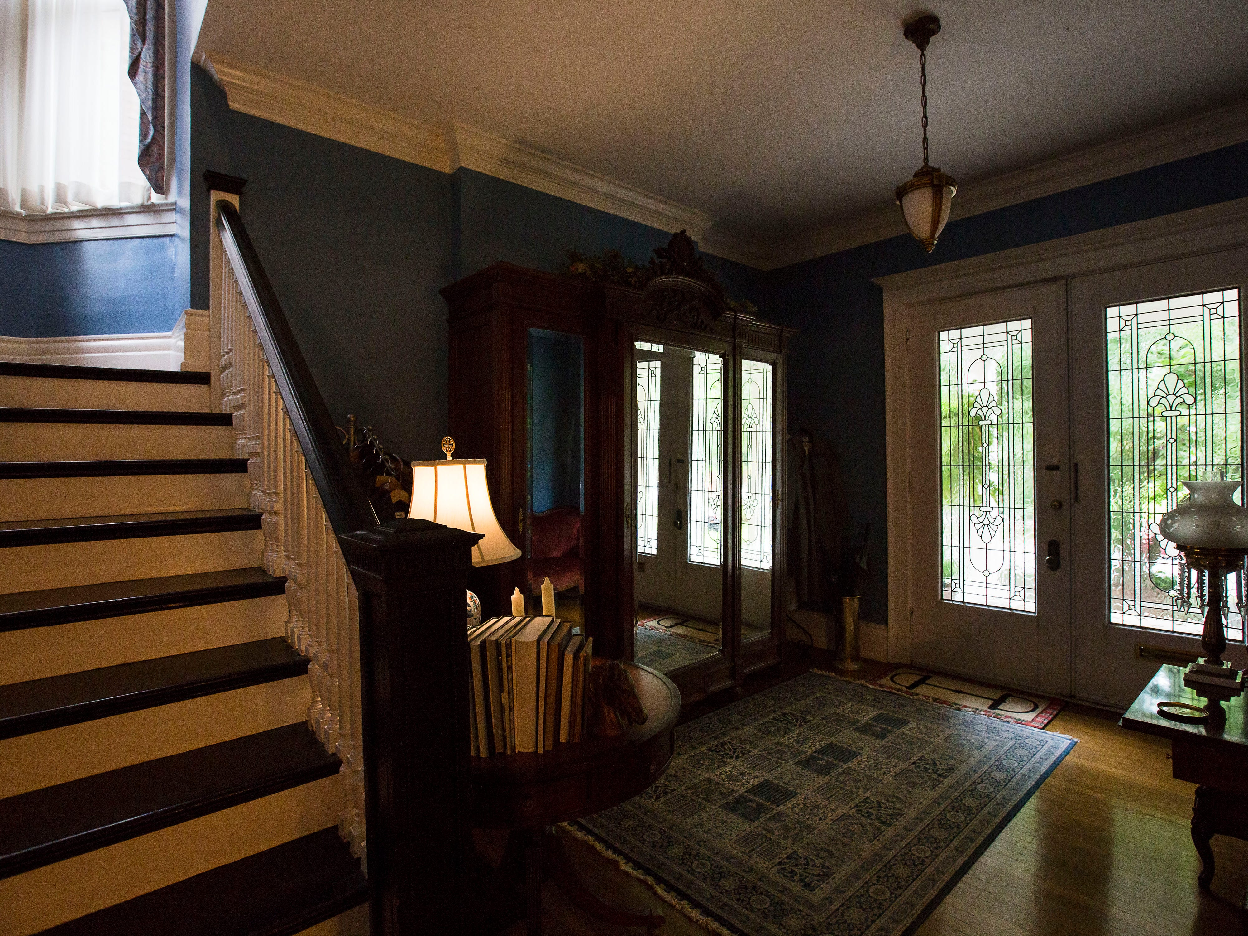 Entryway at historic Cherokee Triangle home in Louisville, KY.