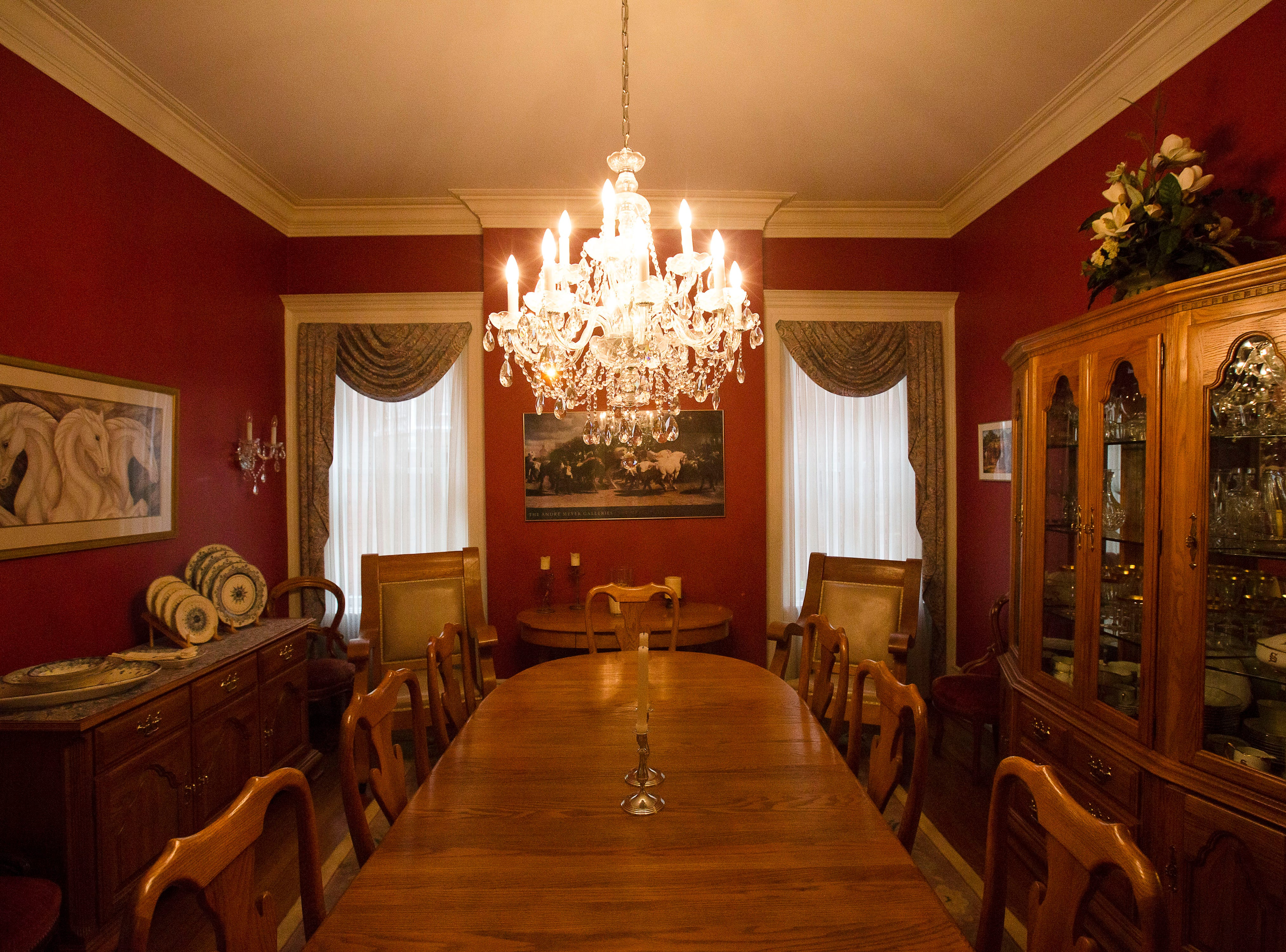 Dining room of victorian home in historic Cherokee Triangle  in Louisville, KY.