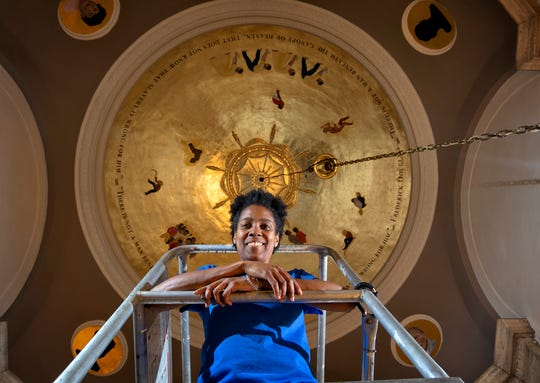 """Karyn Olivier has completed her installation entitled """"Witness"""" in Memorial Hall on the University of Kentucky Campus  on August 16, 2018."""