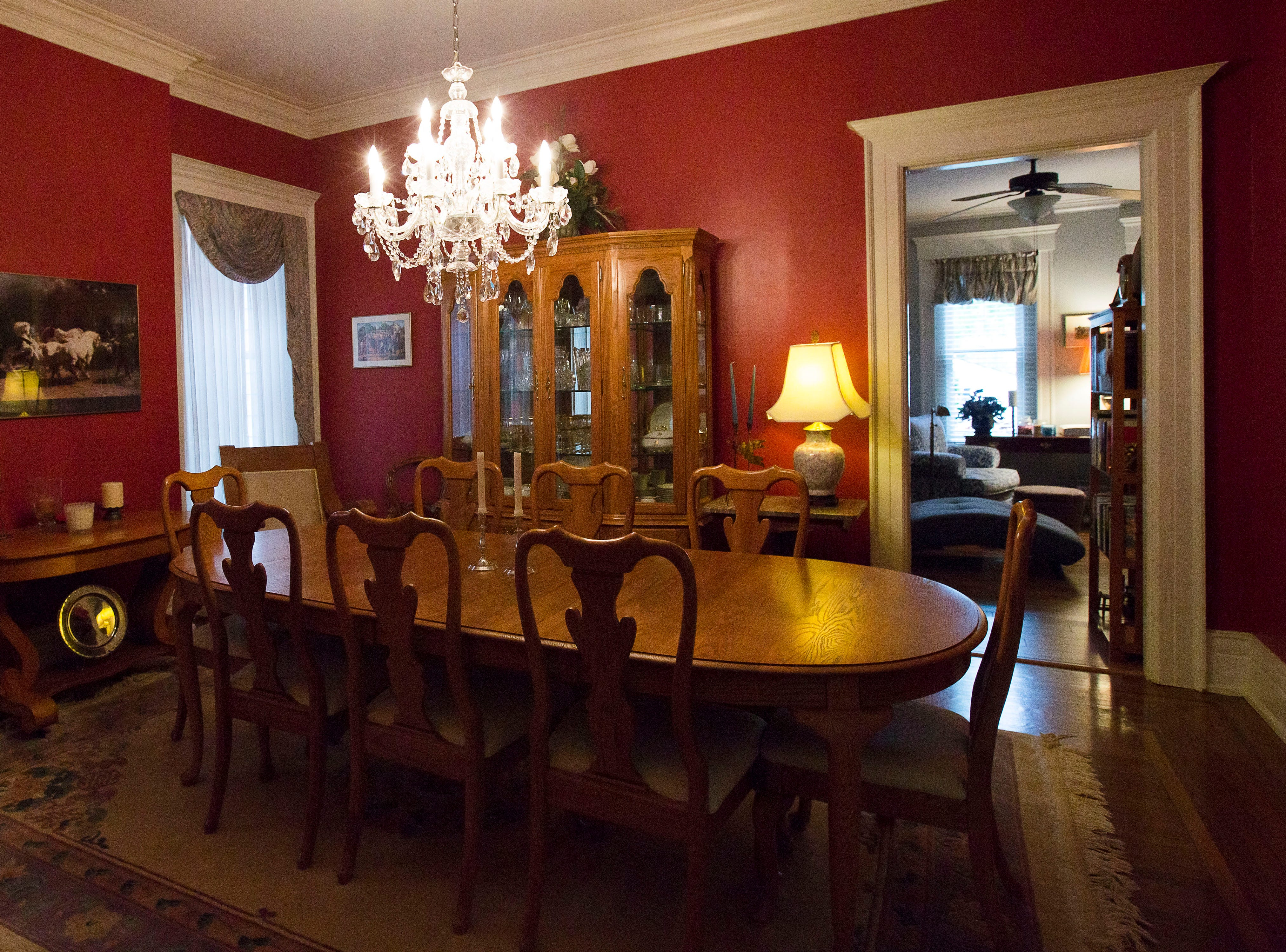 Dining room at victorian home in historic Cherokee Triangle  in Louisville, KY.