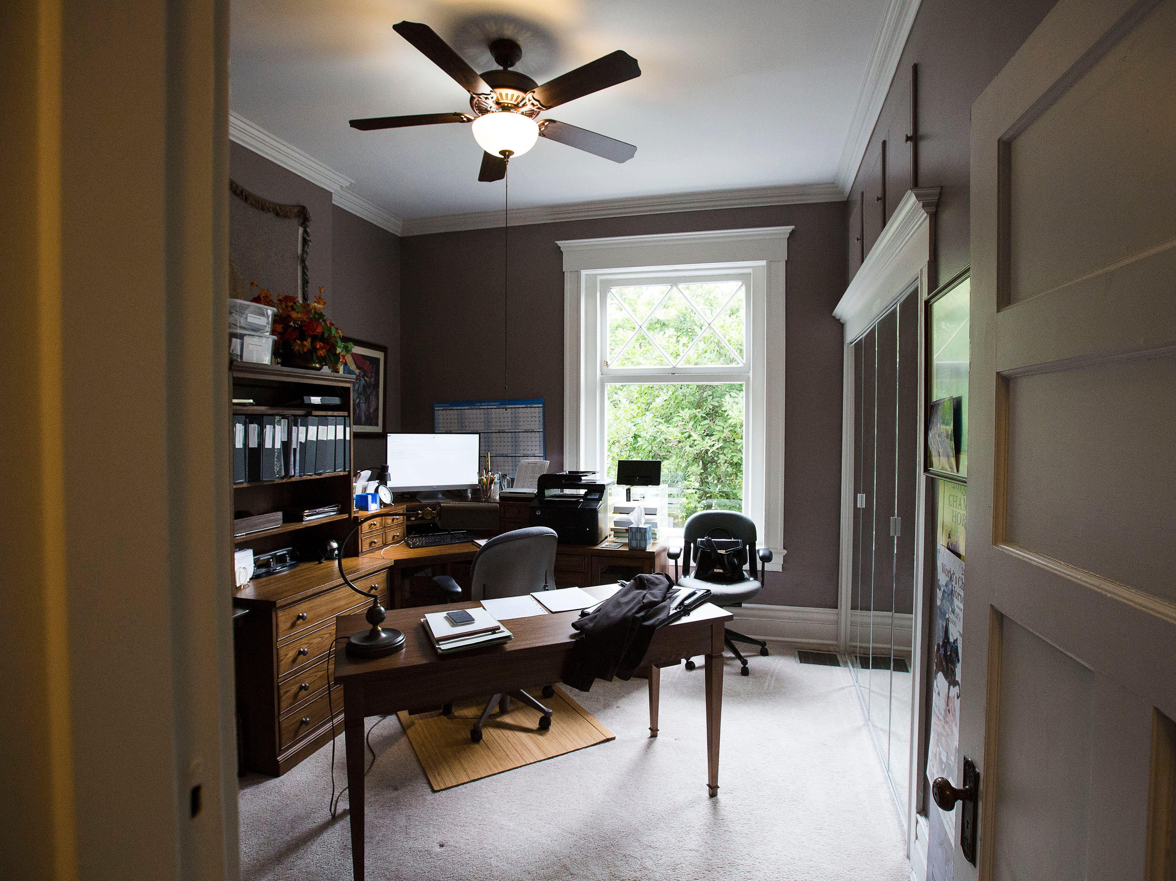 Second floor office at historic Cherokee Triangle home in Louisville, KY.