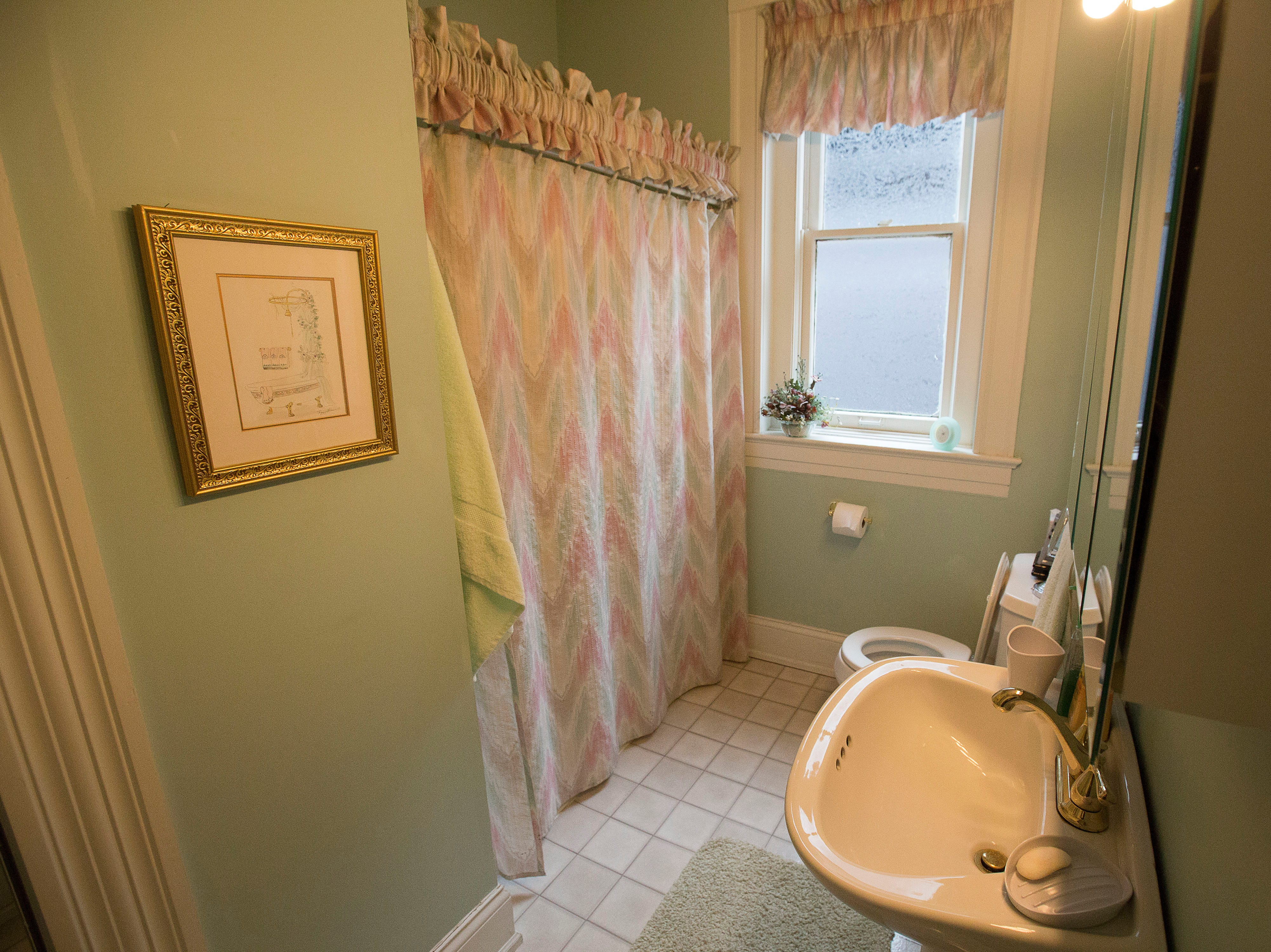 Another second floor bathroom at historic Cherokee Triangle home in Louisville, KY.