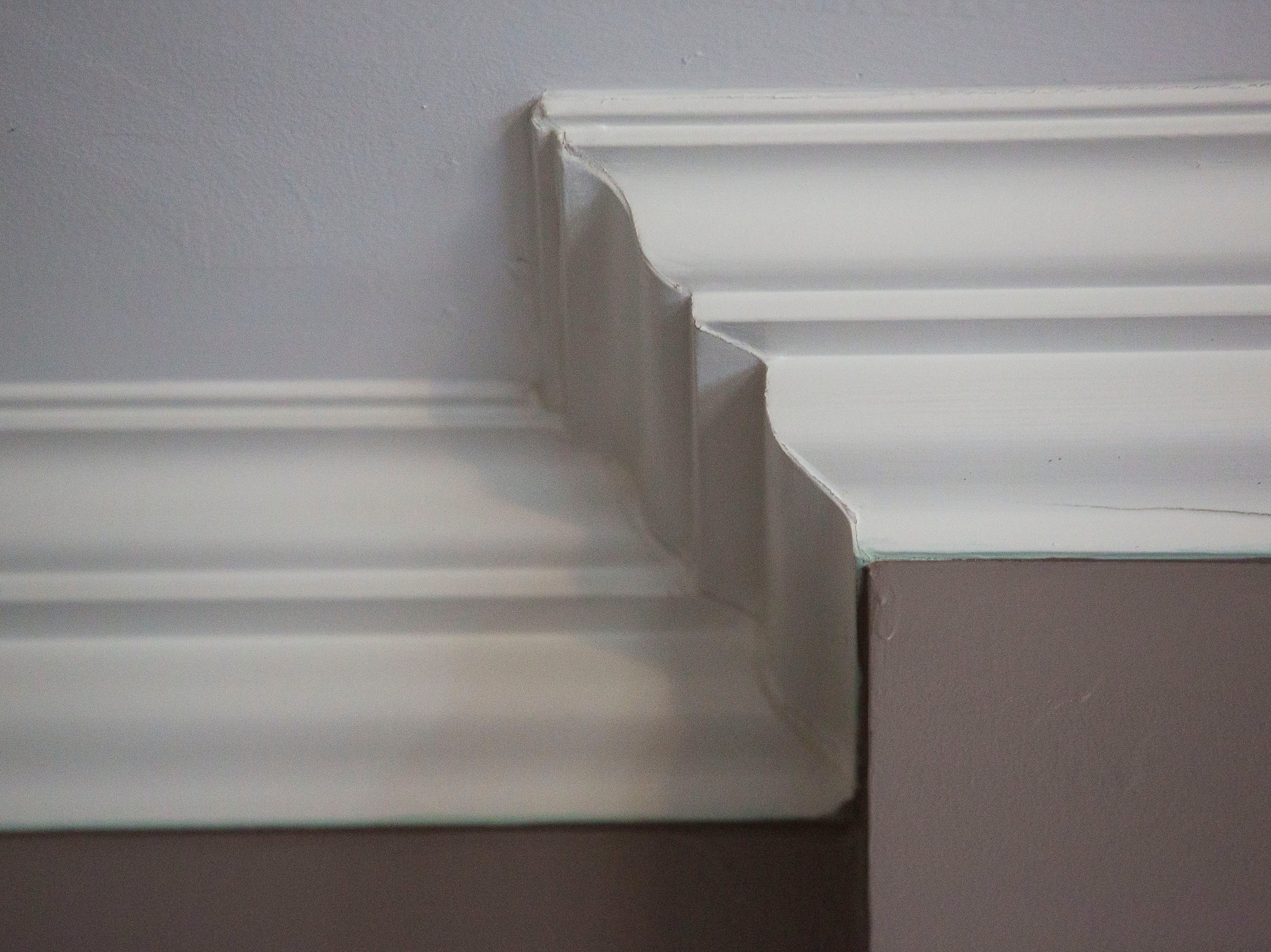 Original crown molding at historic Cherokee Triangle home in Louisville, KY.