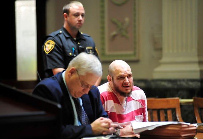 Matthew Kunzer listens to visiting judge Robert Brown before his sentencing Friday in Crawford County.