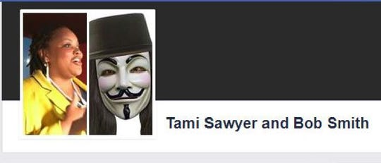 """A screenshot from federal court records shows activist Tami Sawyer was friended by """"Bob Smith,"""" a social media persona controlled by the Memphis Police Department."""