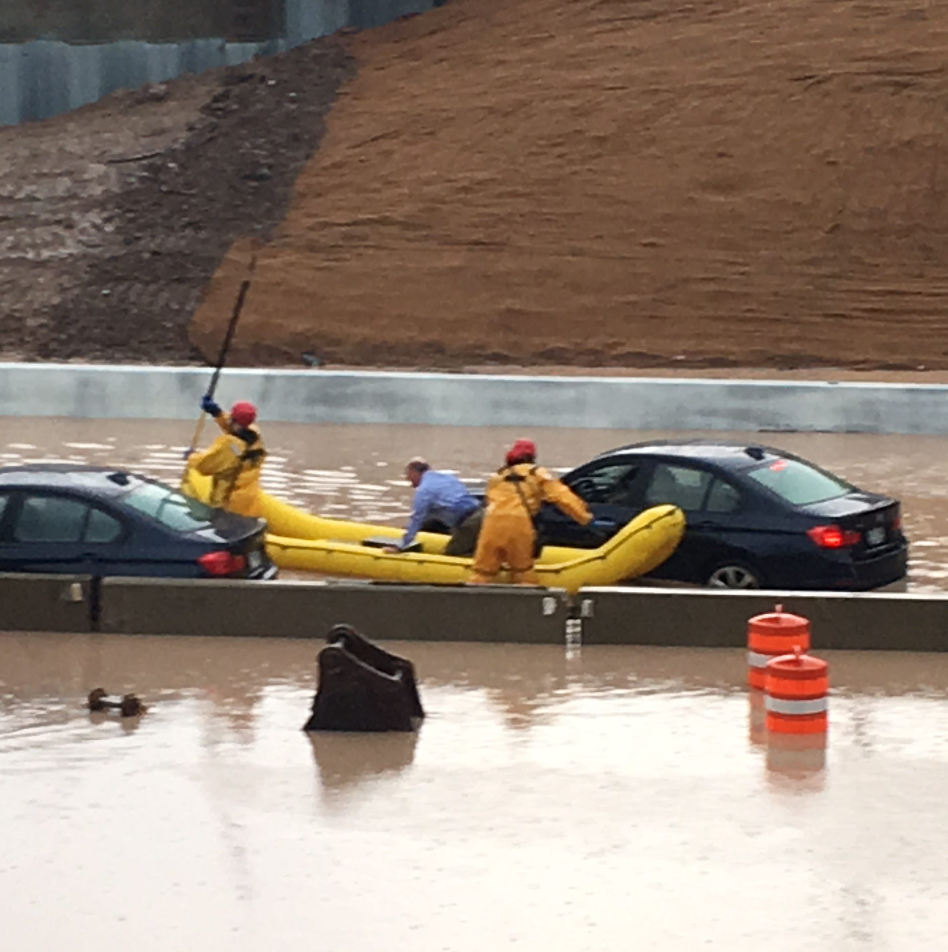I-43 reopened after flash flooding blocked it in both directions at Good Hope Road