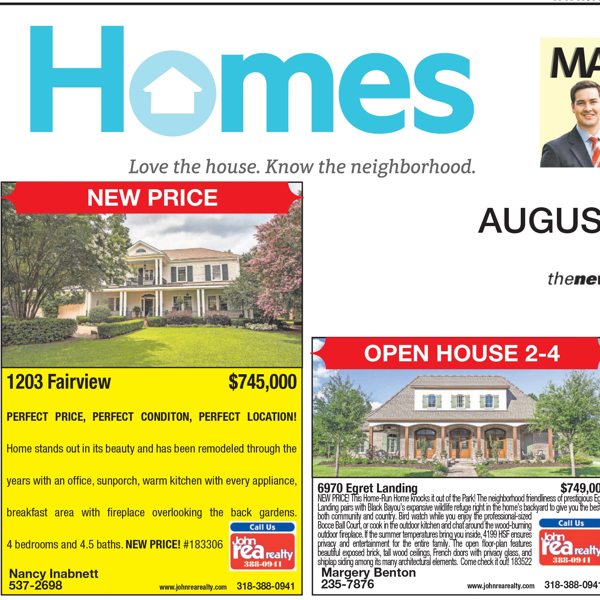 Homefinder: Aug. 19, 2018