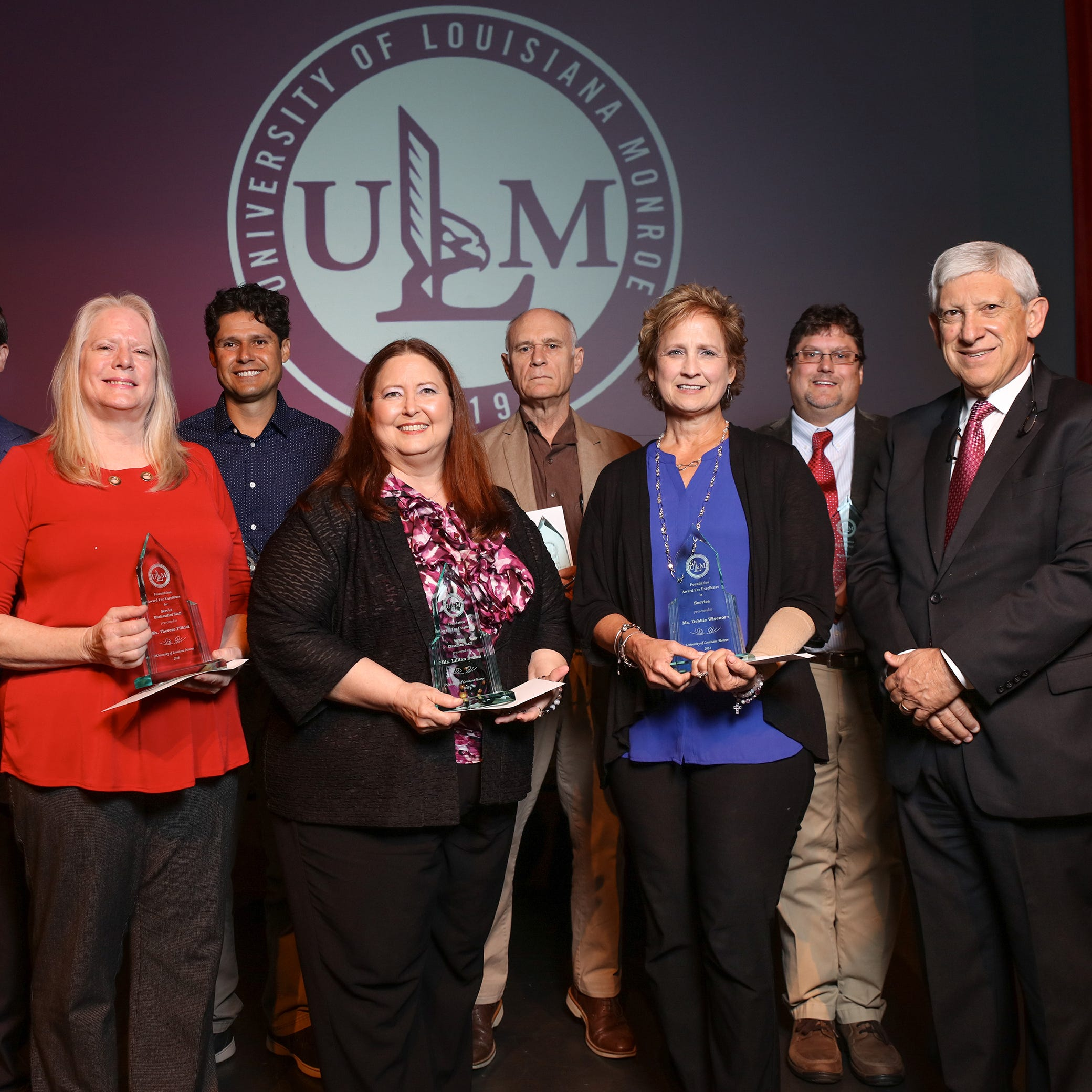 Bruno delivers ULM State of the University; Foundation Awards presented