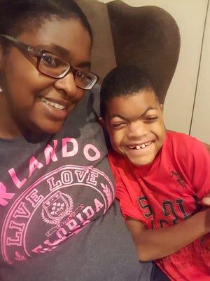 Kamisha Coleman and her son, Kamren Dennis. Kamren died June 19, 2016.