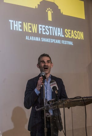 Rick Dildine, artistic director at the Alabama Shakespeare Festival, announces the upcoming season of 14 shows at the Kress Building in downtown Montgomery on Thursday, Aug. 16, 2018.