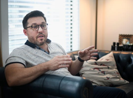 Robert Piraino is concerned about his apartment building Olmsted Apartments, where new ownership will include short term rentals Friday, Aug. 17, 2018, in Nashville, Tenn.