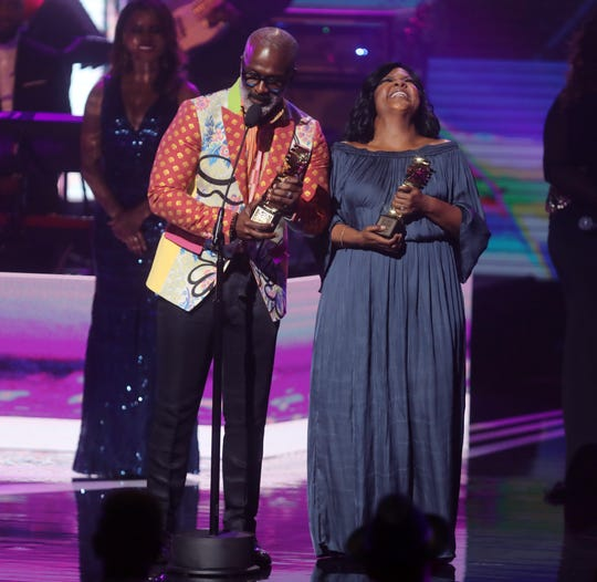 Bebe and Cece Winans receive the Gospel Music Icon Award at the Black Music Honors at TPAC Thursday August 16, 2018.