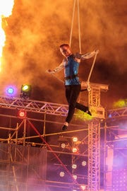 "Devon Chanceric, Professional Circus Artist, will perform in ""Circus Transformus"" at the Broadway Palm in Fort Myers, Aug. 25 and 26."