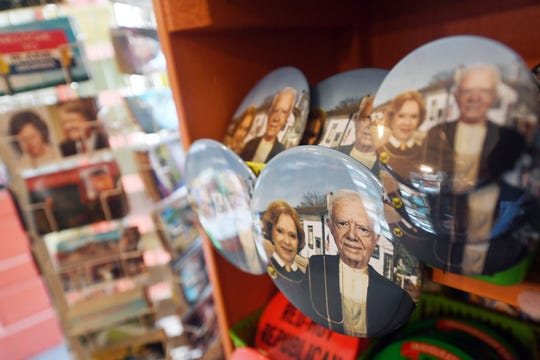 The Plains, Ga., general store, sells memorabilia of former president Jimmy Carter and scoops of peanut butter ice cream.