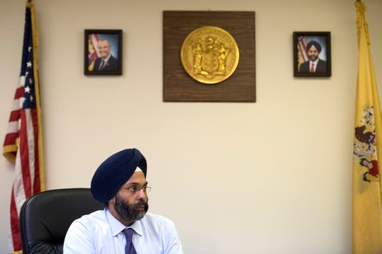 New Jersey Attorney General Gurbir Grewal at his Newark office on Friday, August 17, 2018.