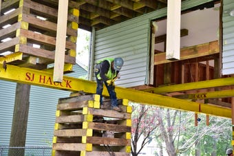 Flood-prone homes in Pequannock are elevated from the ground