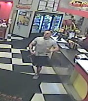 Police are looking to identify this man, who is believed to have stolen credit cards from gym patrons at two separate gyms in Hackensack before handing them off to a second suspect.
