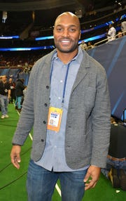 Former Giants wide receiverAmani Toomer, pictured here in 2014 at Super Bowl XLVIII Media Day, was in Fort Lee on Aug. 16, 2018 and is looking to open a medical marijuana facility in the borough.