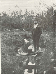 John Burroughs at Slabsides' Celery Swamp.