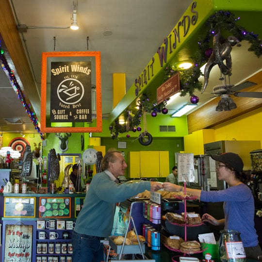 Spirit Winds has been open for almost 40 years, offering coffee, pastries and gifts.
