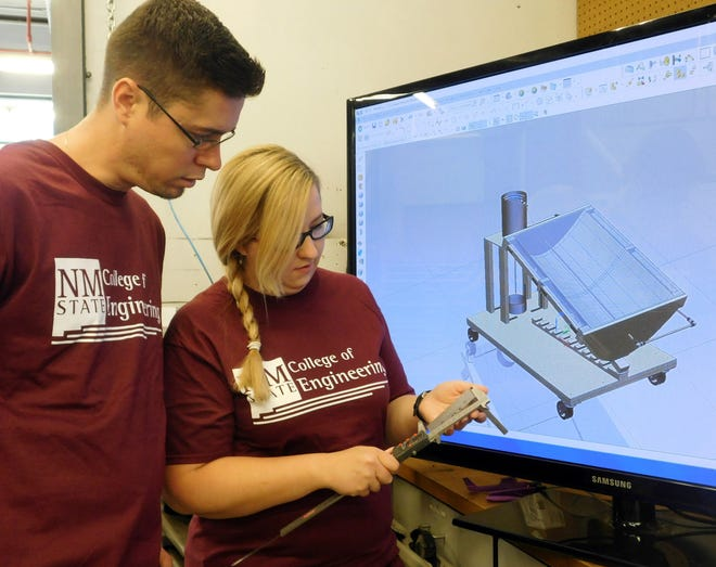 New Mexico State University mechanical engineering students are developing prototypes from using computer-aided design software in the Student Project Center.
