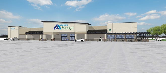 A conceptual drawing of Albertsons Market which is expected to open in fall 2019.