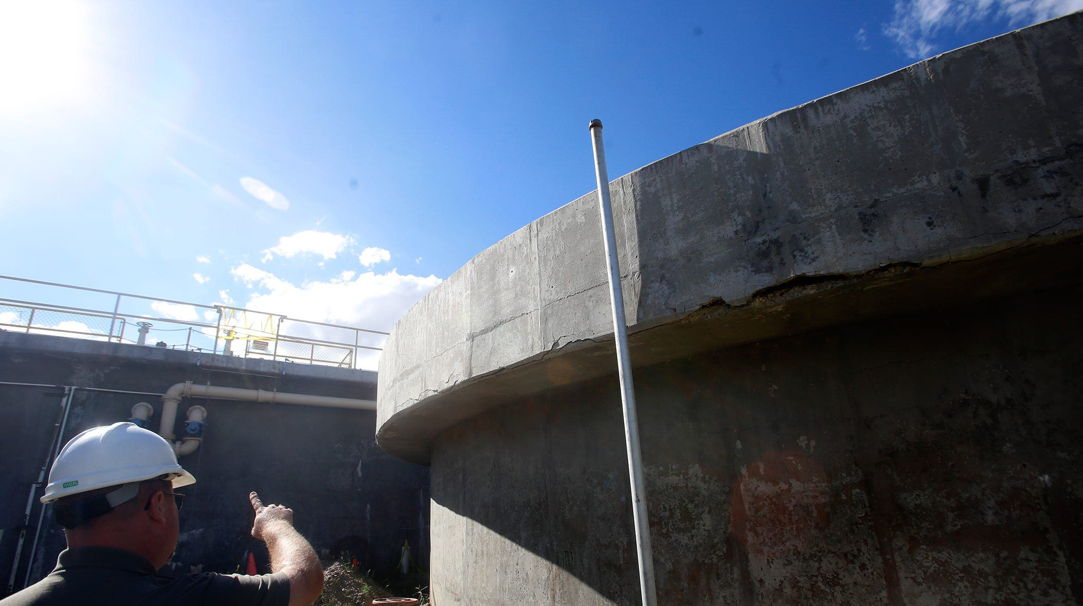 City of Bloomfield Water Reclamation Facility Operations Foreman Dave Sonnenberg talks about repairs needed on the wastewater treatment plant's settling tanks in a file photo from Sept. 12. 2015.