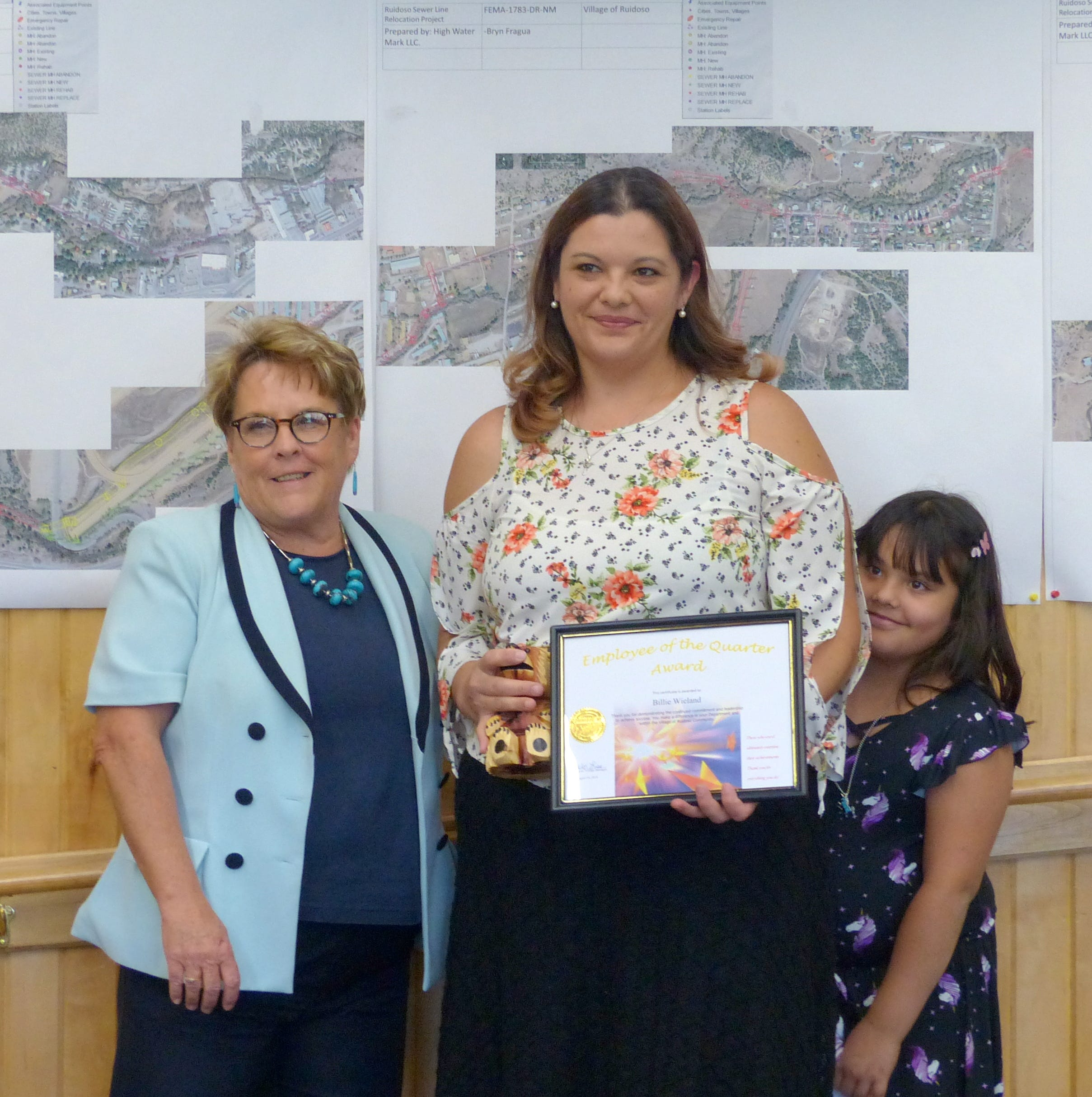 Quarterly employee awards handed out by Ruidoso