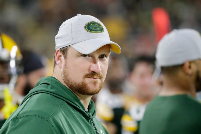 Green Bay Packers offensive tackle Bryan Bulaga (75) during an NFL preseason game at Lambeau Field on Thursday, August 16, 2018 in Green Bay, Wis.