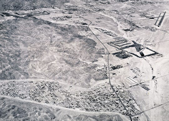 Crossley Tract northeast border of the Tahquitz Creek Golf Course c. 1962