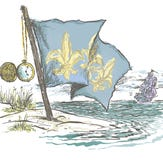 The French flag flew over Pensacola from 1719-1722.