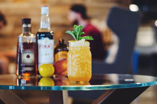 The Peach Rose cocktail from Phoenix resident Will Mejia won a Four Roses Bourbon competition.