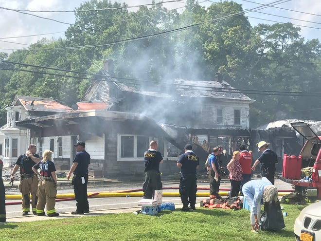 Firefighters responded to a fire along Route 22 in Dover on Friday.