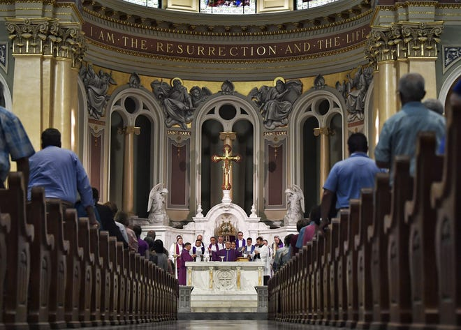 Ronald Gainer, bishop of the Catholic Diocese of Harrisburg, held a Mass of Forgiveness on Friday, Aug. 17, three days after the release of a sweeping grand jury report on clergy abuse around the state.