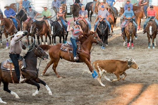 Nearly 200 teams were entered in Jackpot Team Roping.