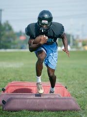 Bishop Kearney running back Nathan Carter during football practice.
