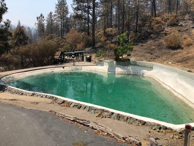All that remains of Shasta resident Julie Hirst's property is a pool.