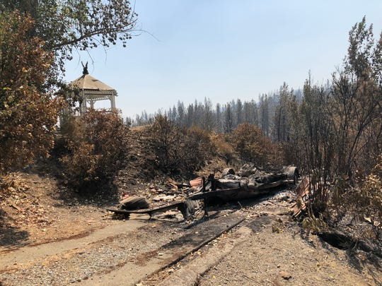 Shasta resident Julie Hirst's home was destroyed in the Carr Fire.