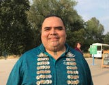 Jack Potter Jr. of Redding Rancheria explains the healing gathering at the Sundial Bridge on Aug. 16, 2018.