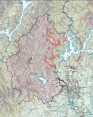Friday's Carr Fire map