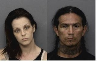 The Neighborhood Police Unit arrested Angela Gilchrist and Mart Lee Winn near the Redding Library.